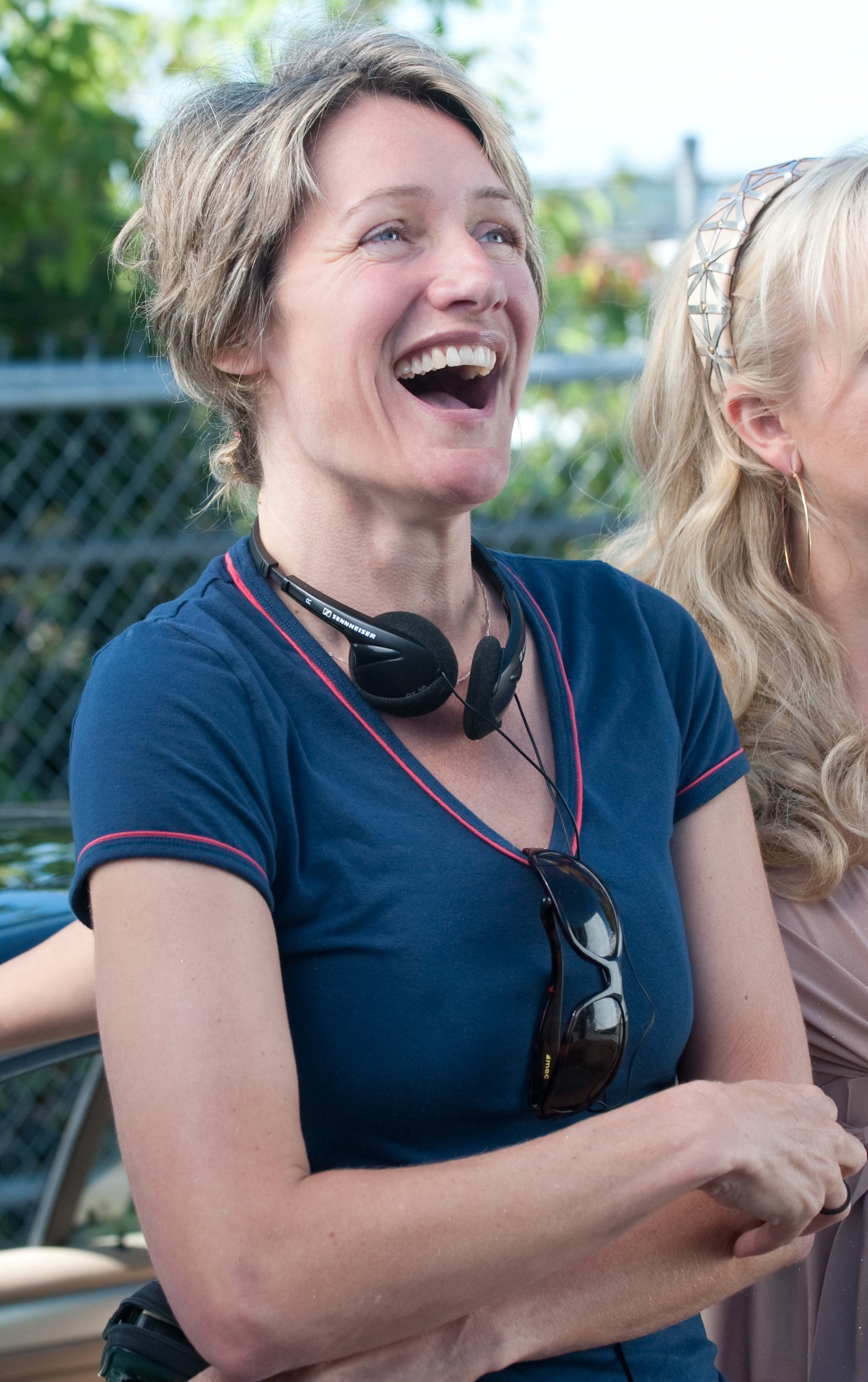 Director Katrin Bowen on set